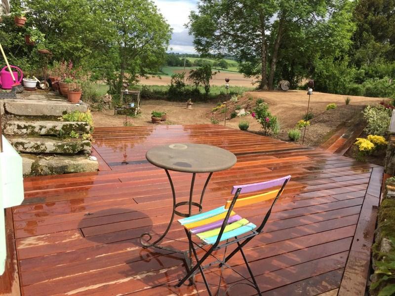 Création de terrasse en bois exotique à Montluçon